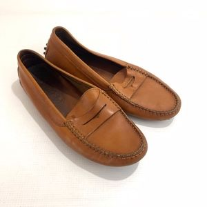 Tods Brown Penny Loafer Driving Loafers